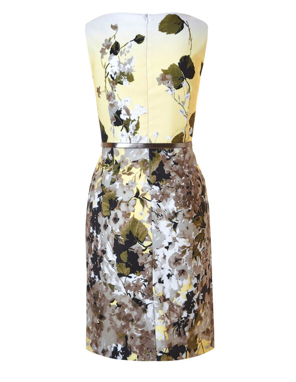 Yellow Floral Dress With Pockets, Yellow, hi-res