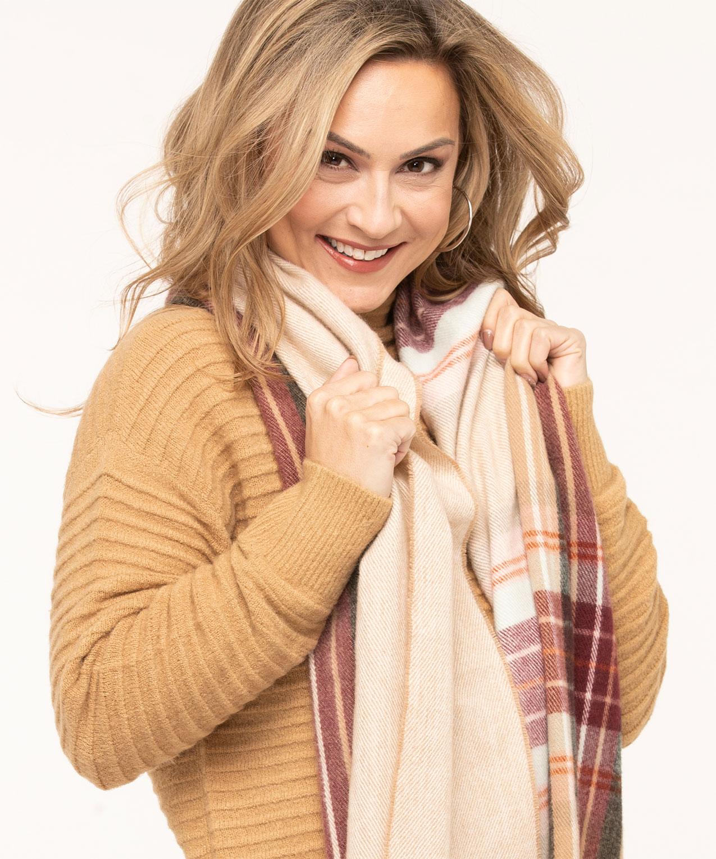 Plaid Super Soft Blanket Scarf Cleo