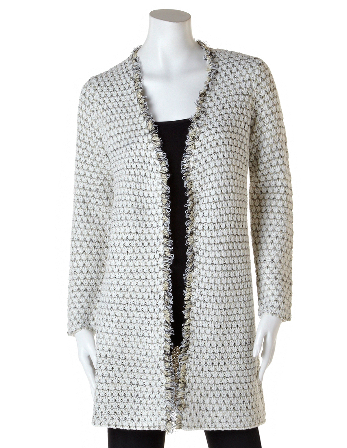 08544fc51b7d Gold Lurex Sparkle Knit Cardigan