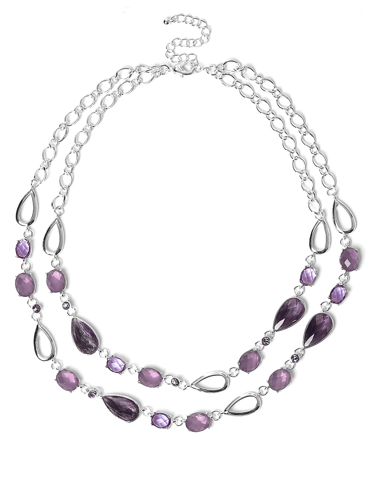 crystal purple indian htm style jewellery p stone costume set necklace fashion silver chunky