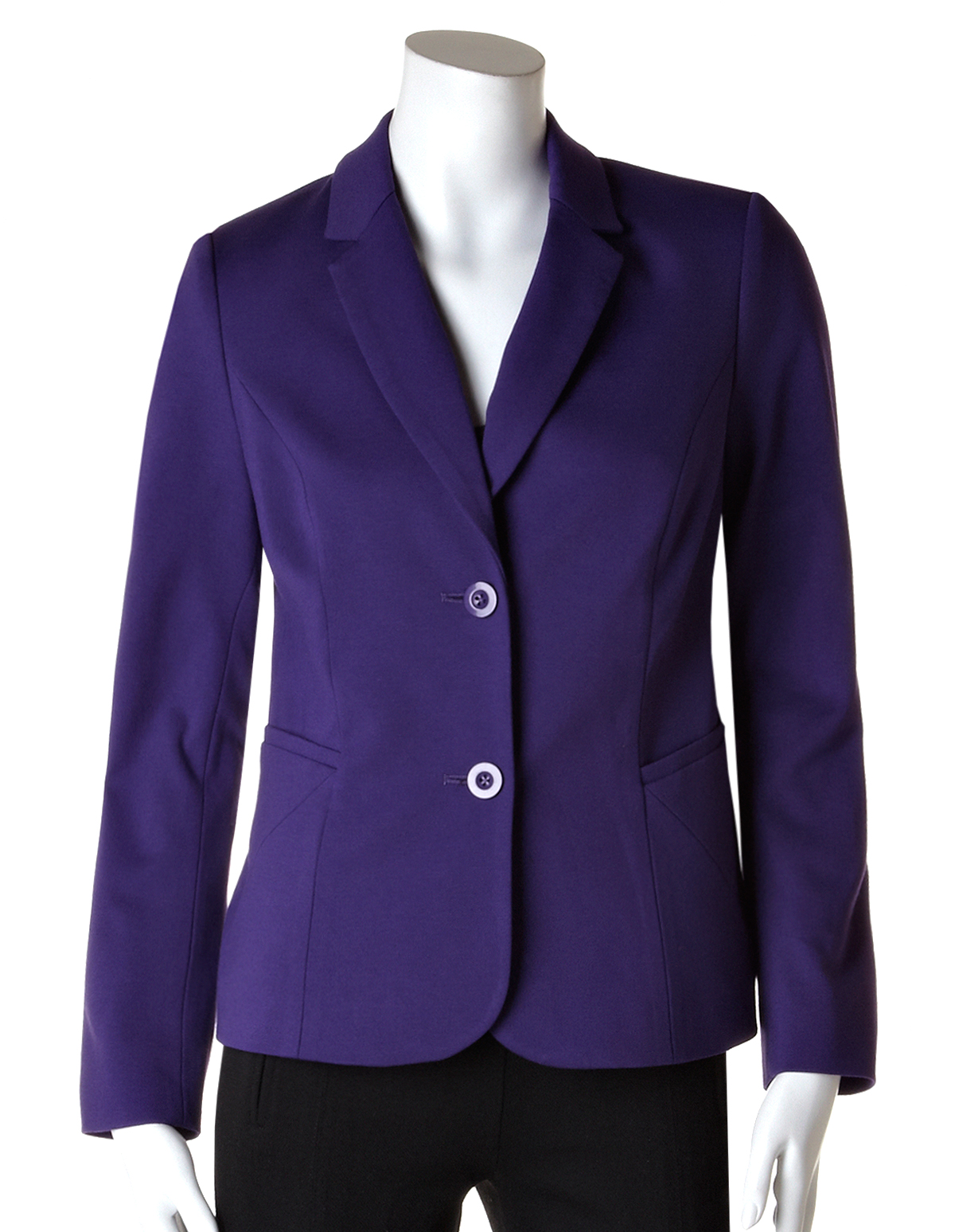 Purple Long Sleeve Blazer | Cleo