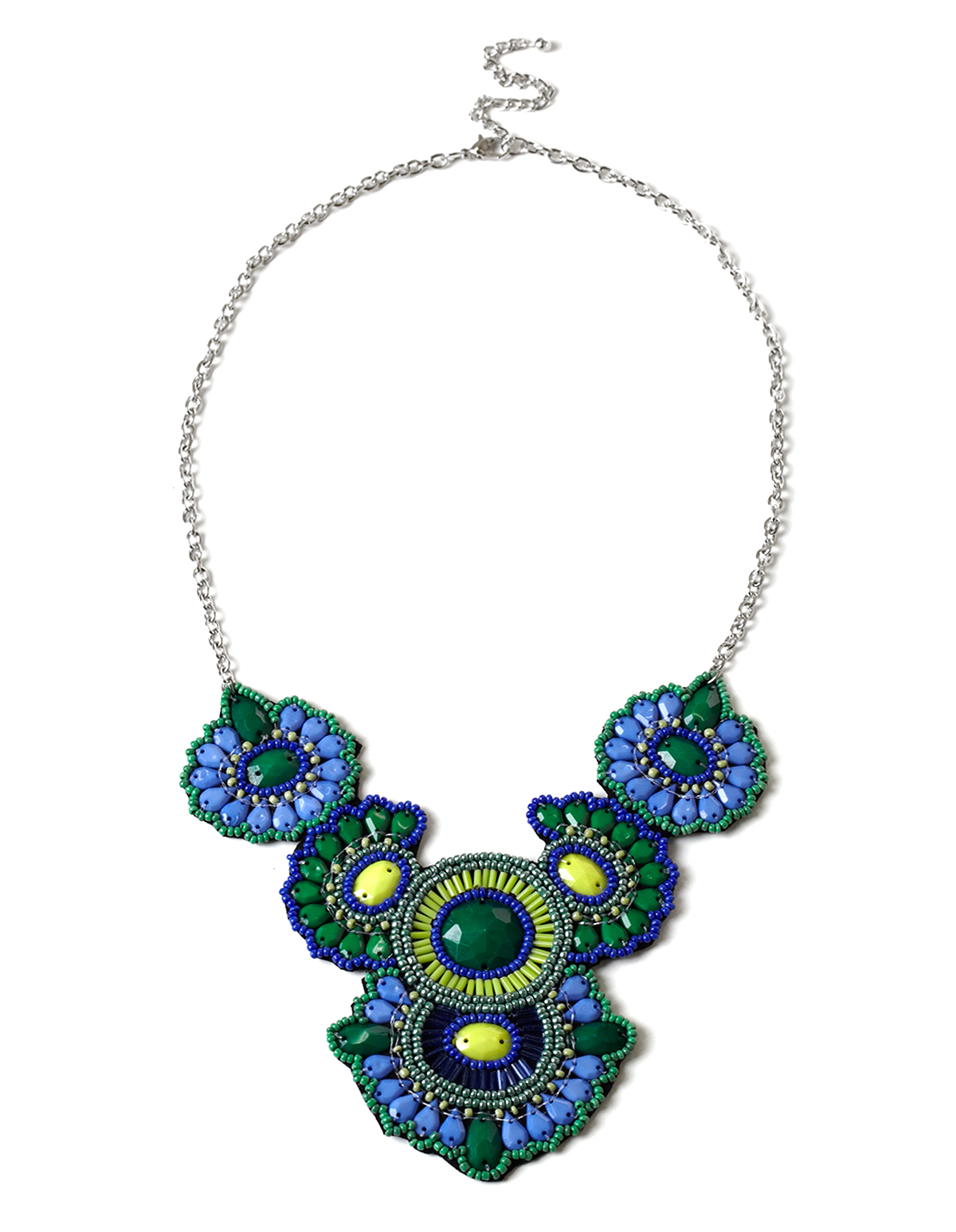 jewelry pointe necklace virtual library of sandi collections green and blue