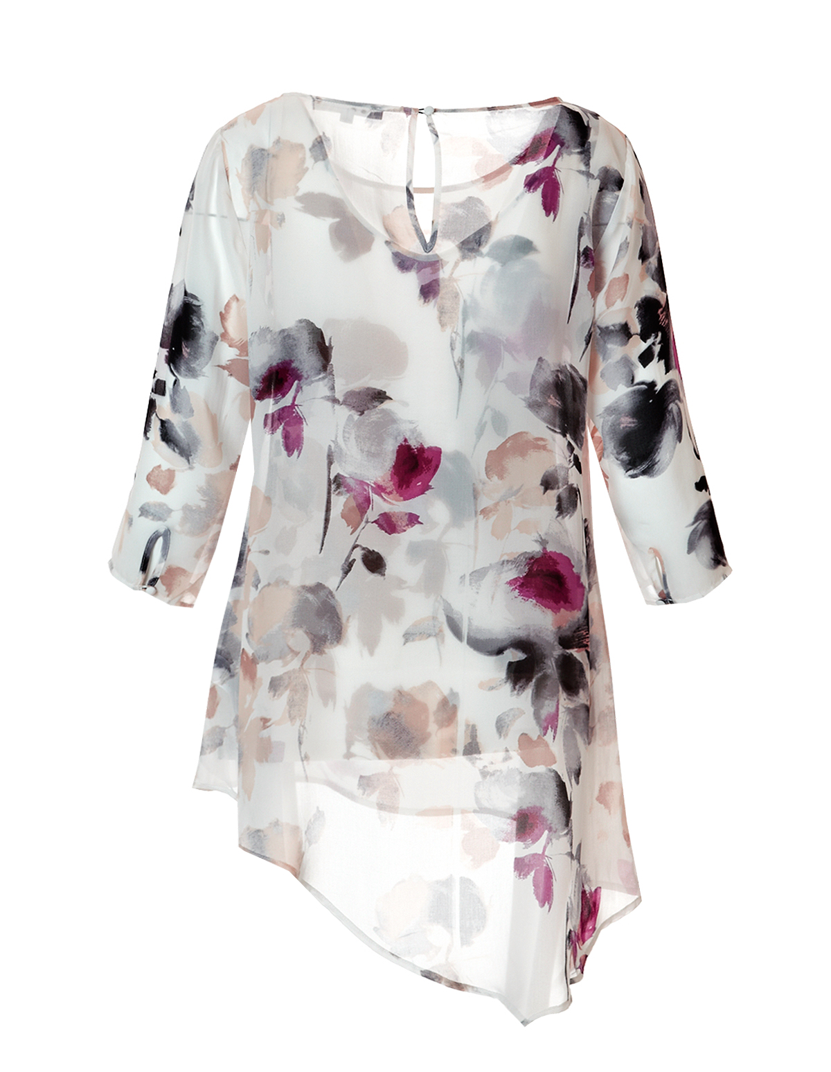 df7aca3fd9020 Floral Print Tunic Blouse with Cami