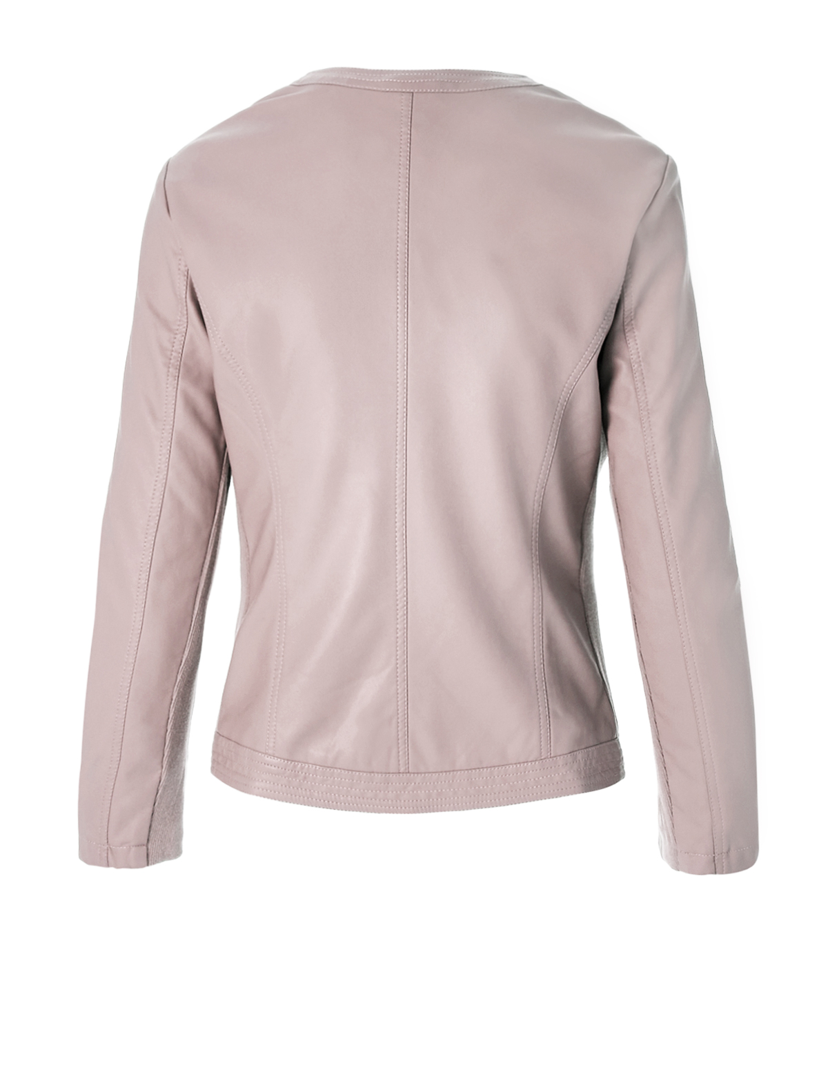 Pink Asymmetrical Pleather Jacket | Cleo