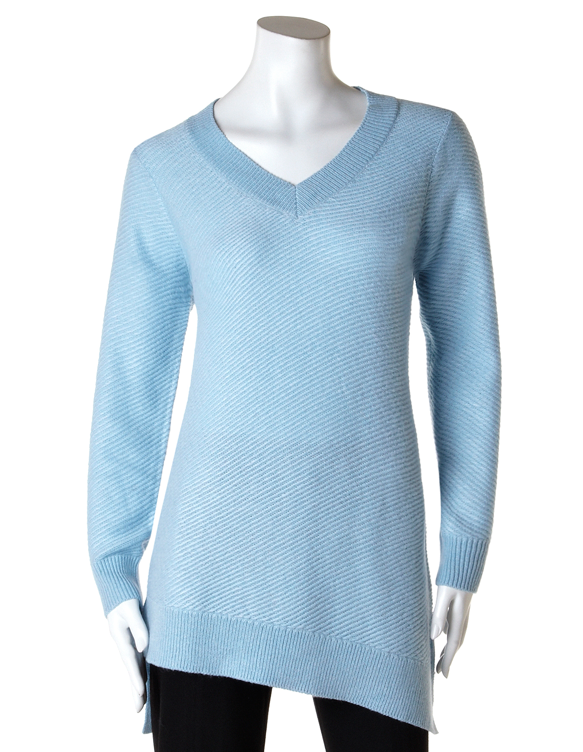 0f25afd4247e4 Asymmetrical Ribbed Knit Sweater