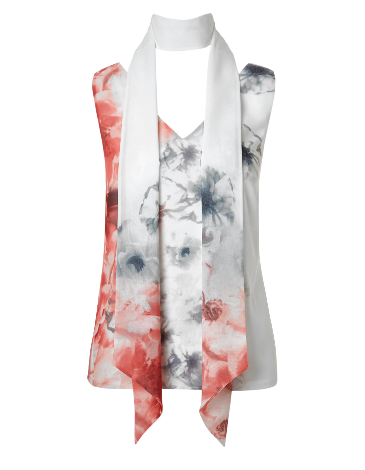 469eb6270c5 Printed Removable Scarf Blouse
