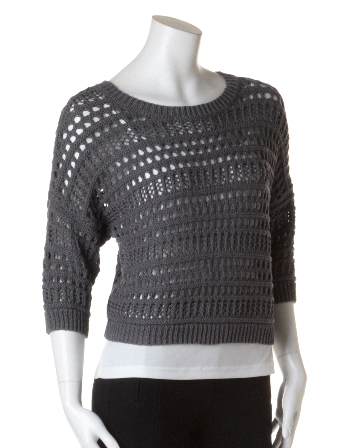 Cropped Crochet Pullover Sweater | Cleo
