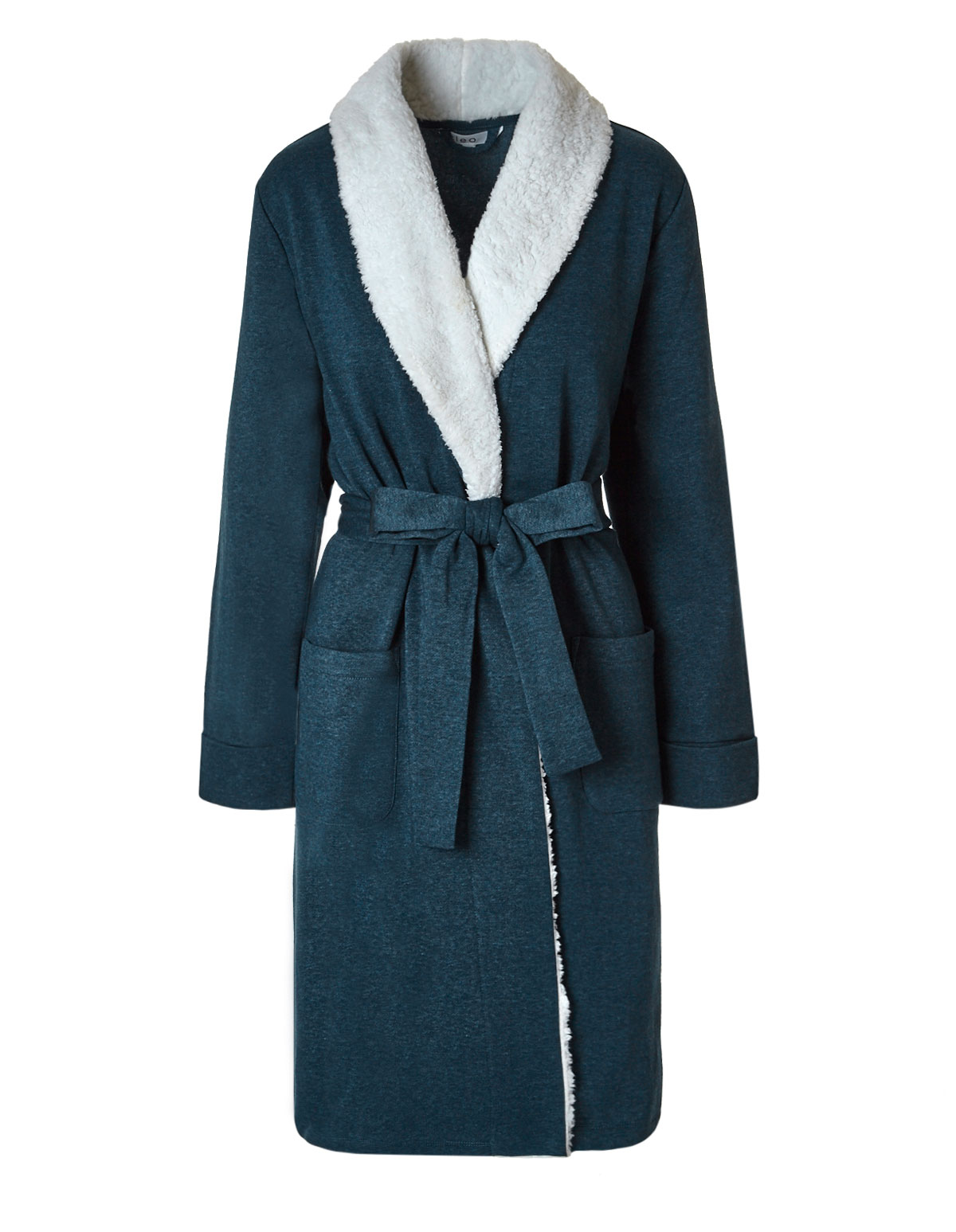 Teal French Terry Fleece Robe  e6f7ae19d