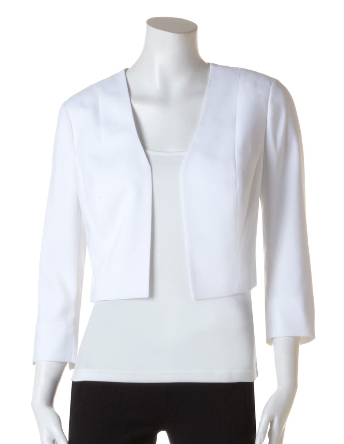 White Cropped Blazer | Cleo