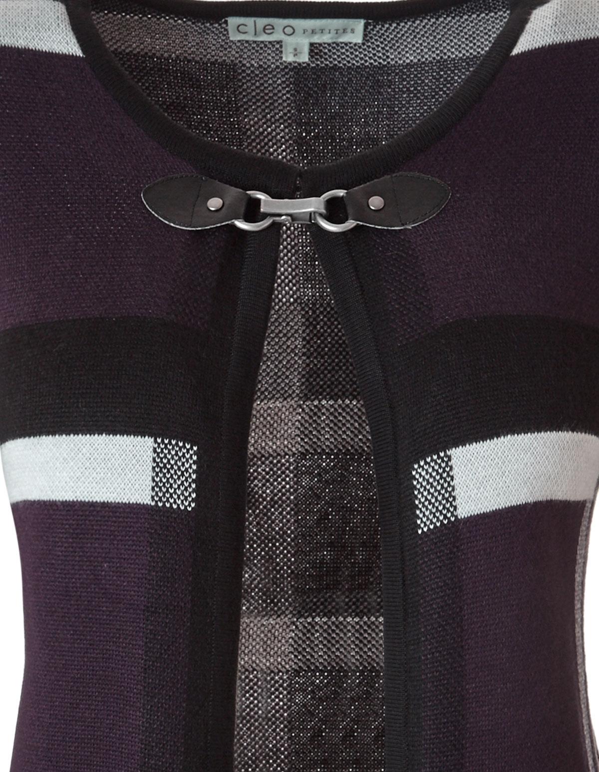 1acede93e Purple Plaid Open Coatigan Sweater