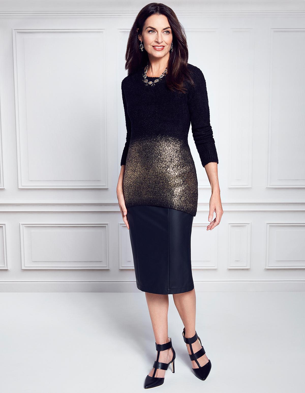 6993c47f7c6e ... Black Faux Leather Pencil Skirt, Black, hi-res ...