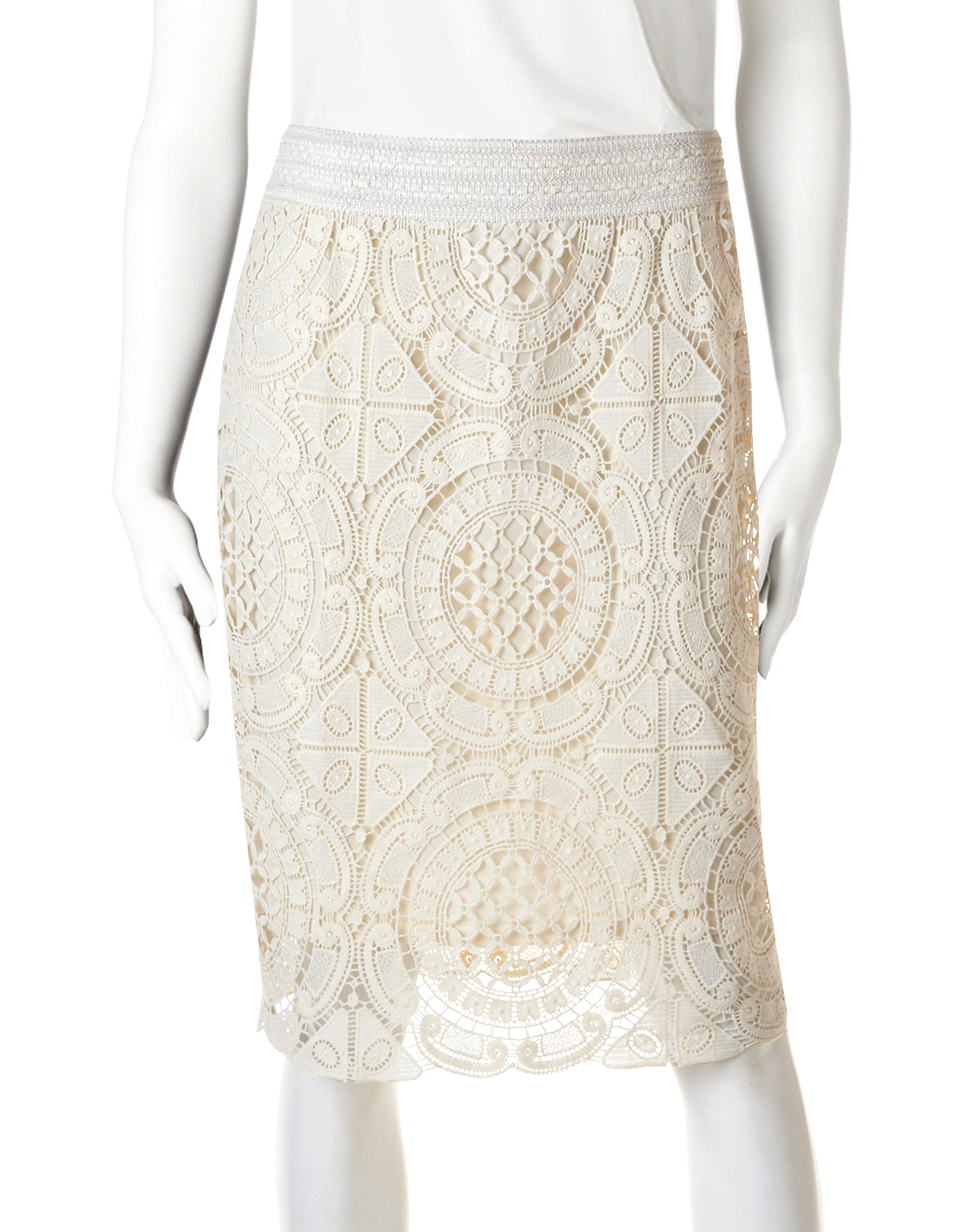 Buy Pencil lace skirt cream pictures trends