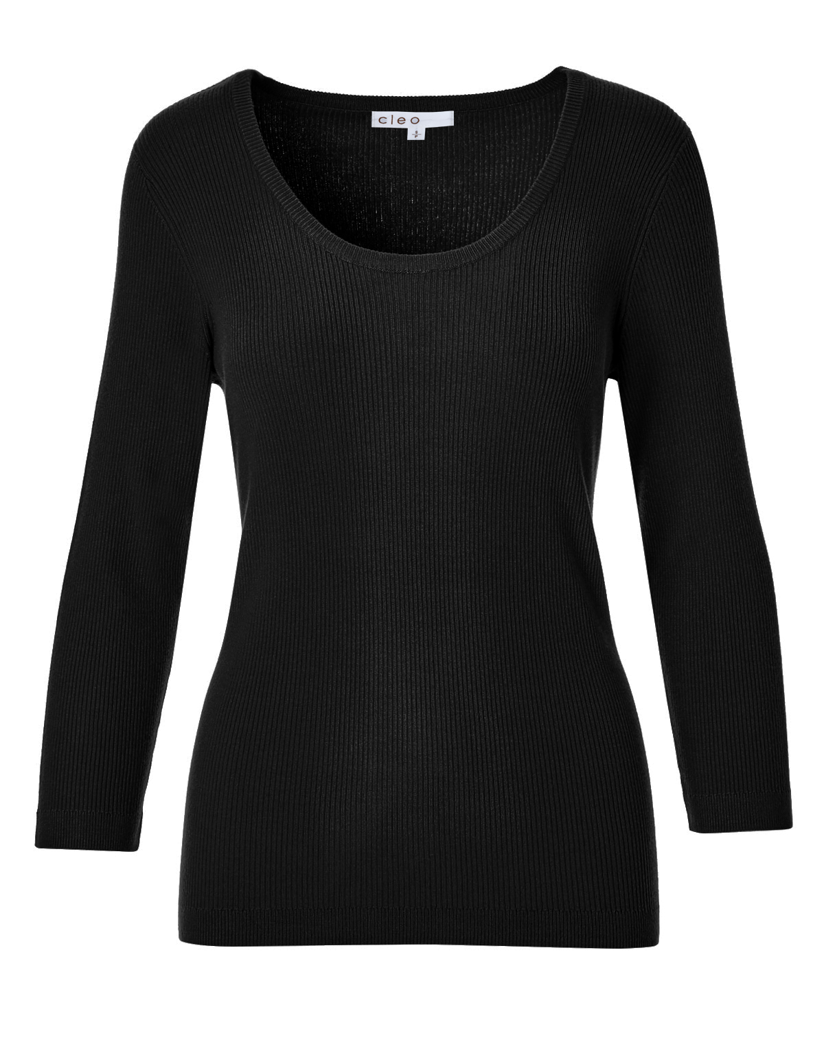 Black Ribbed Pullover Sweater | Cleo
