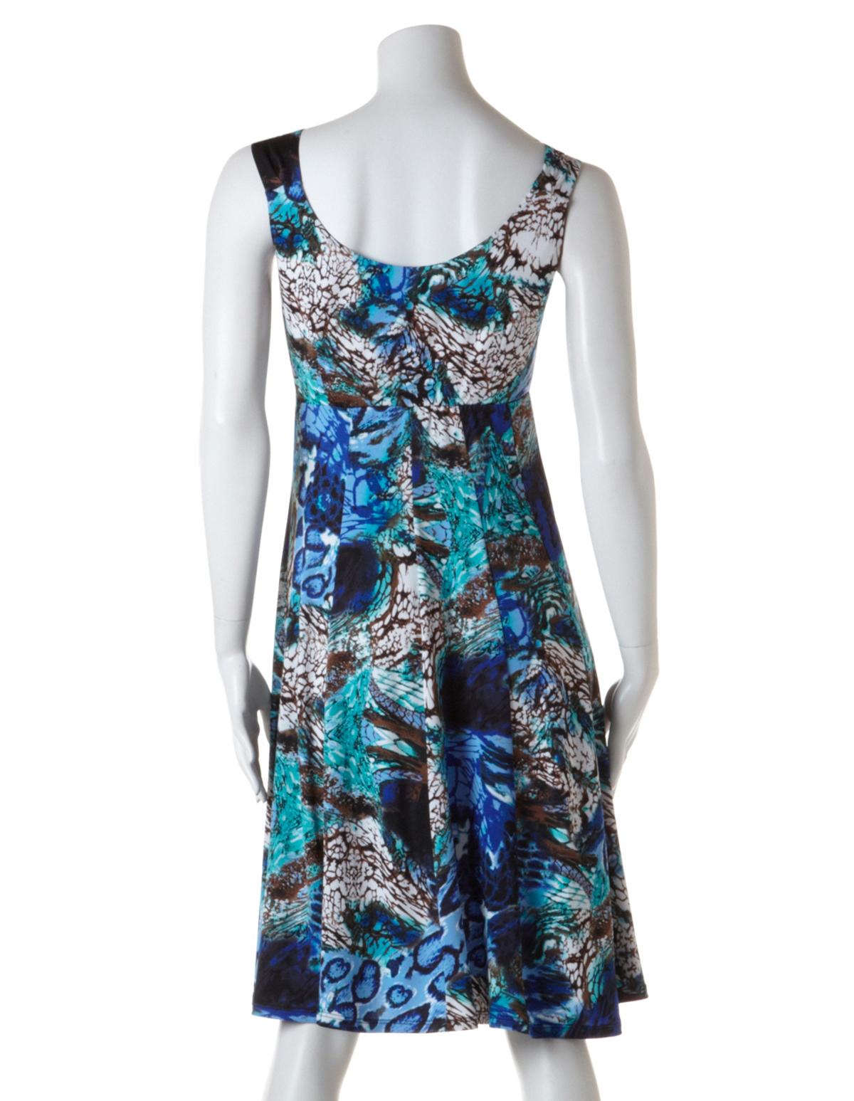 b1701e7e394 ... Mixed Animal Print Fit and Flare Dress