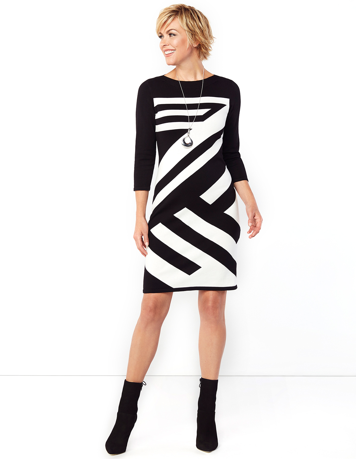 Buy Boat Neck Fake Two-Piece Printed Shift Dress online with cheap prices and discover fashion Shift Dresses at vanduload.tk
