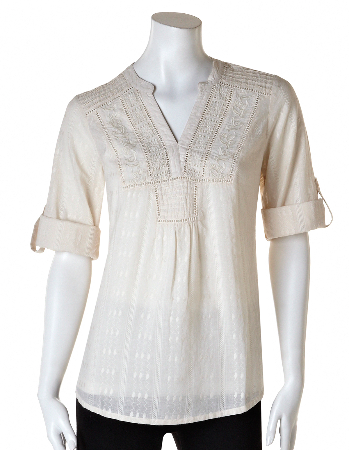 Embroidered Cotton Peasant Blouse Cleo