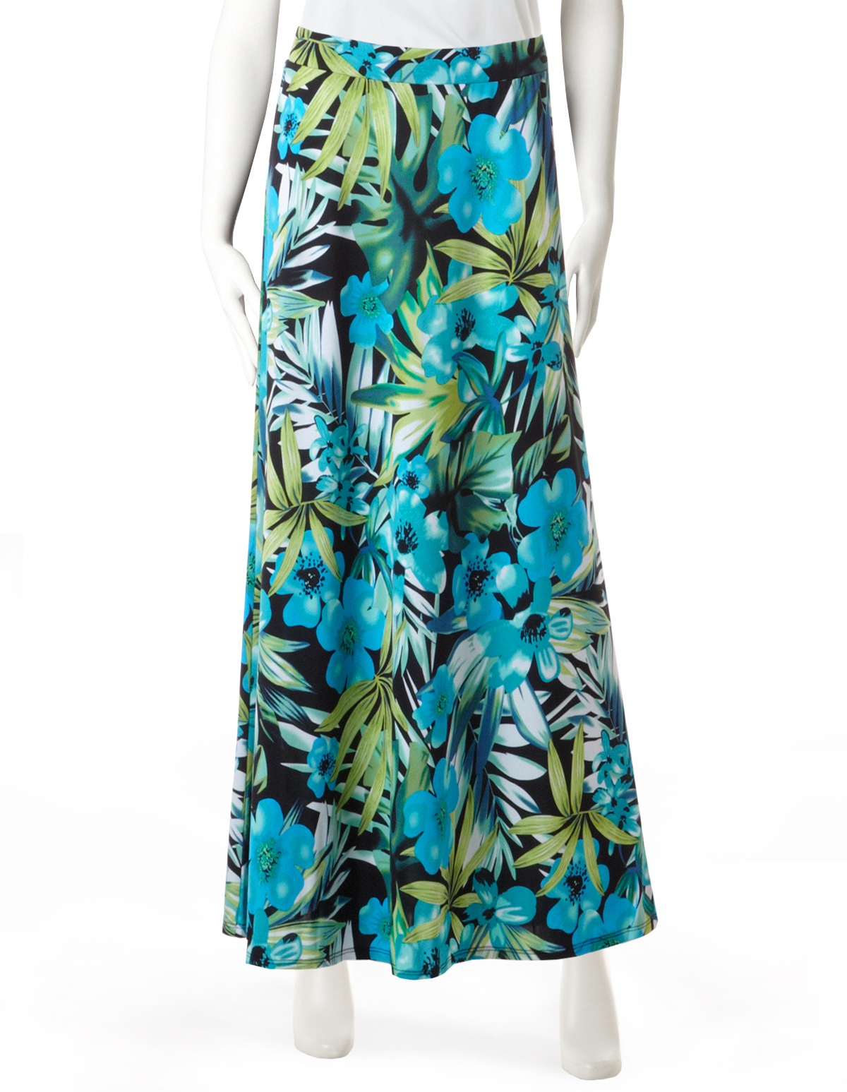 624438f713b Tropical Shadow Print Maxi Skirt