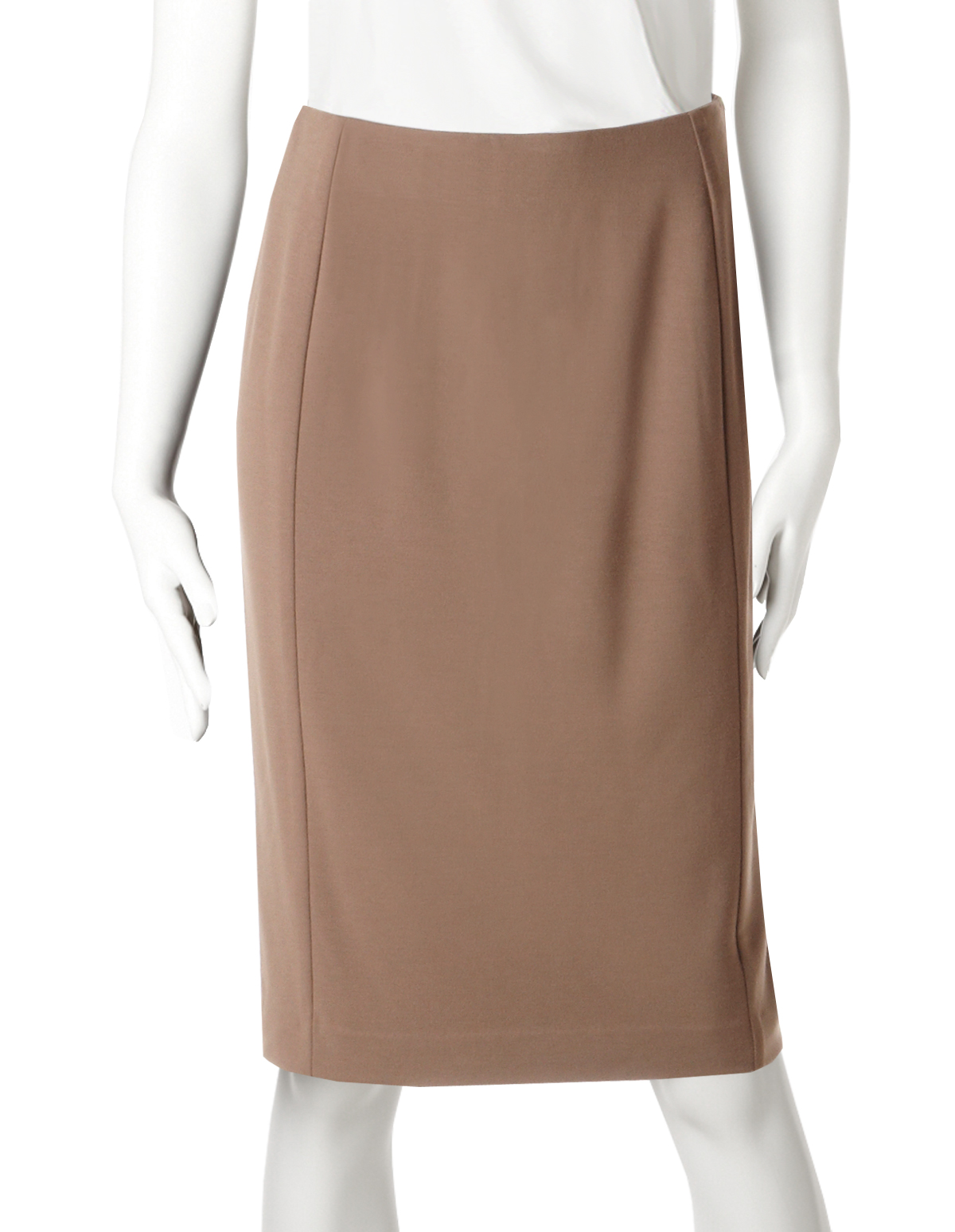 Camel Slimming Pencil Skirt | Cleo