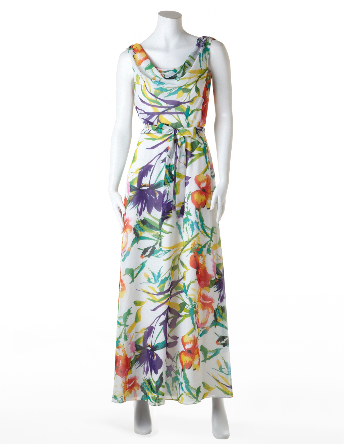 294d48d5cc Tropical Floral Chiffon Maxi Dress