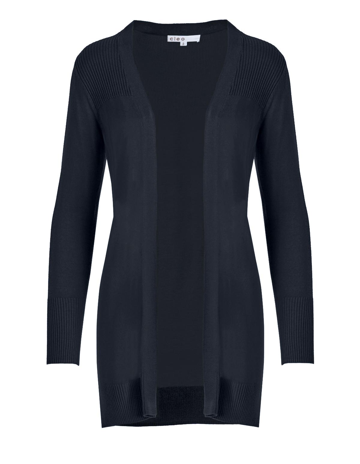 Navy Lightweight Cardigan Sweater | Cleo