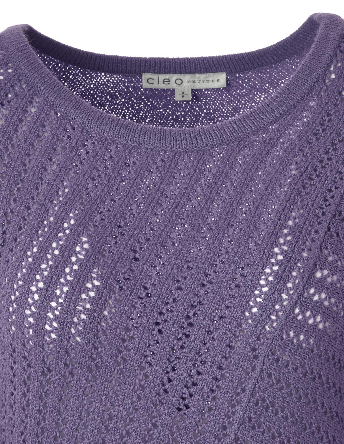 Open Knit Asymmetrical Sweater Cleo