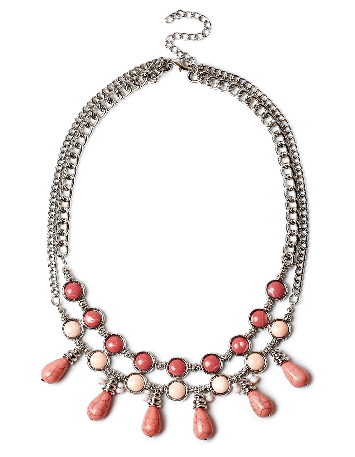 coral bib statement necklace cleo