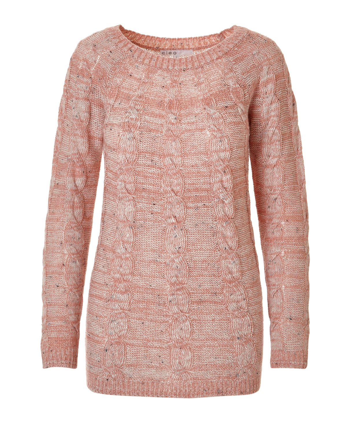 12fab1979e6c Pink Cable Knit Pullover Sweater