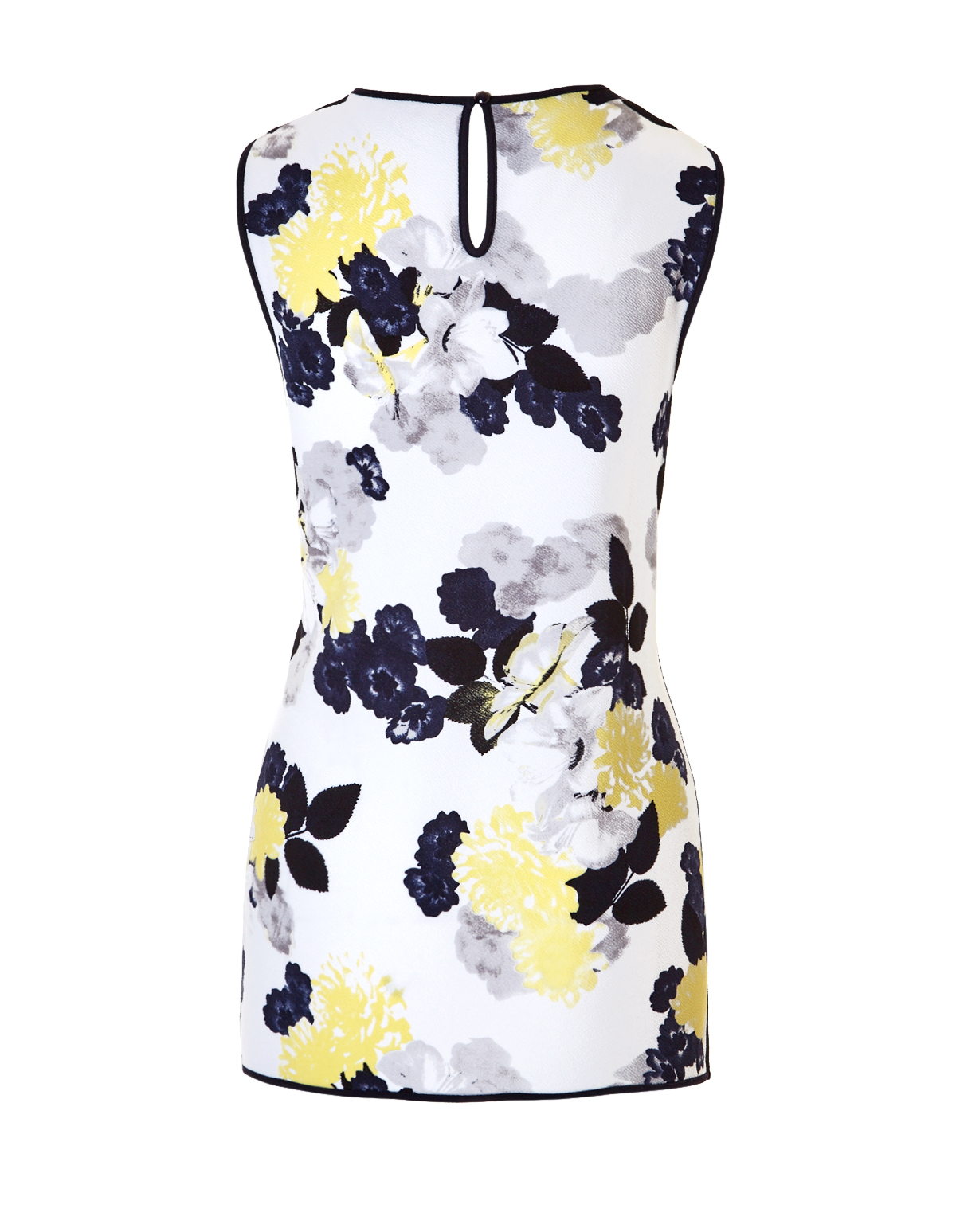 Floral print piped top cleo floral print piped top whiteyellowblackgrey hi res mightylinksfo