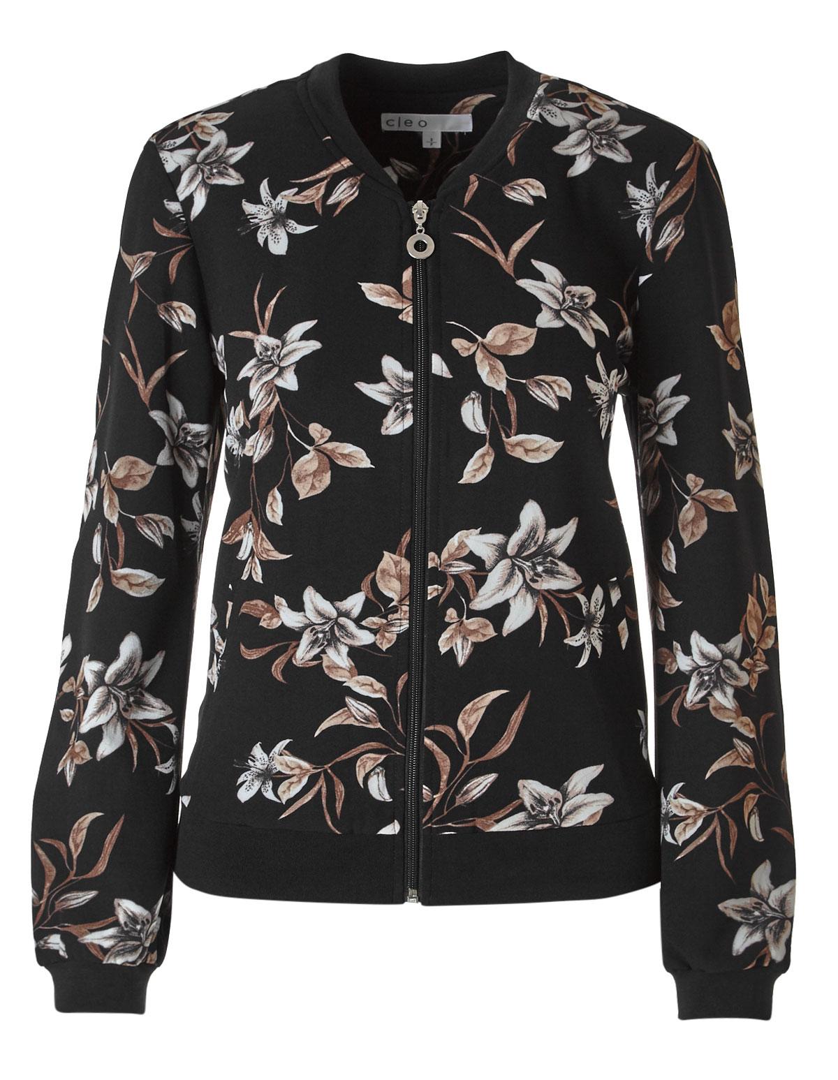 b506851ef7f6 Black Floral Bomber Jacket