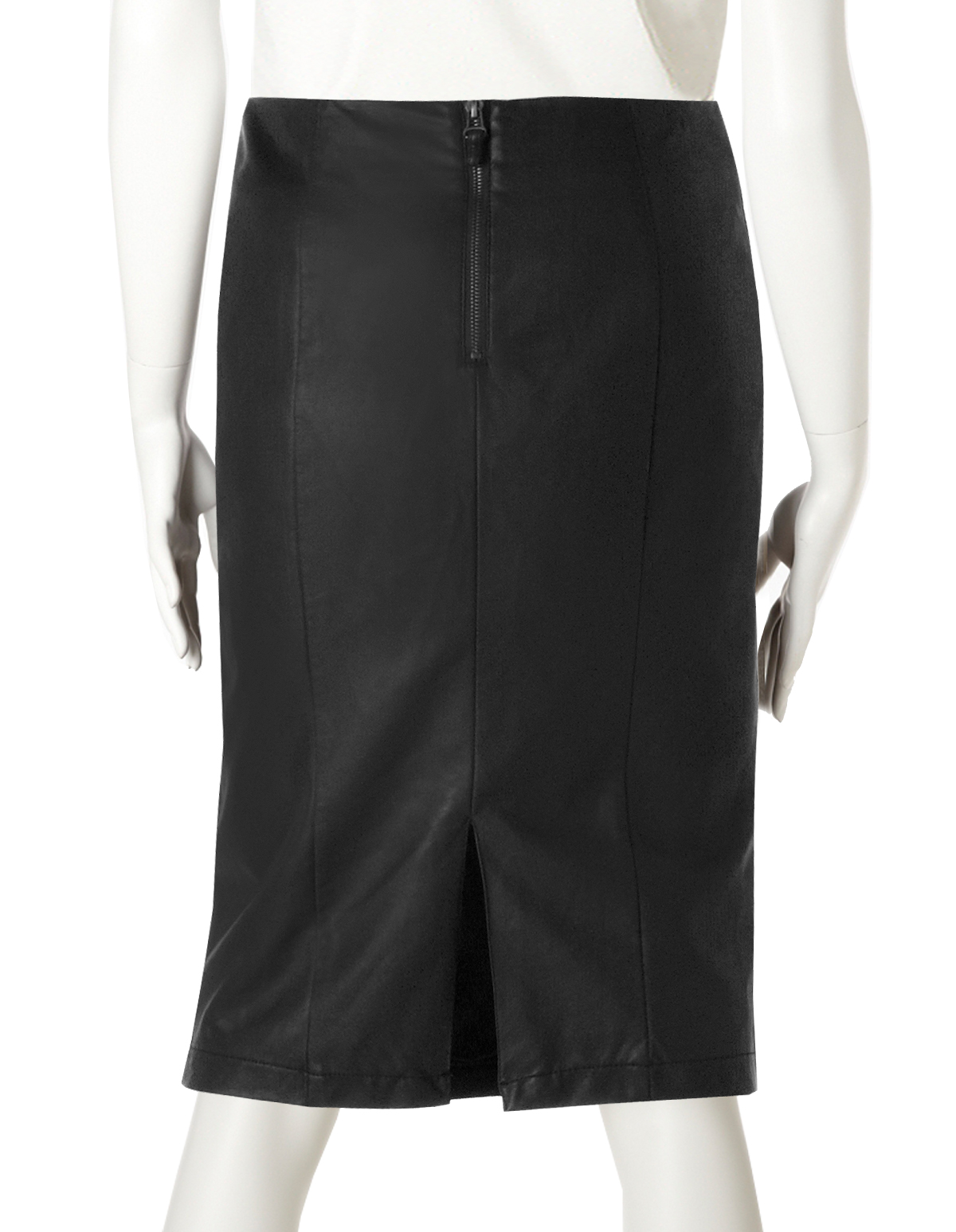 black faux leather pencil skirt cleo
