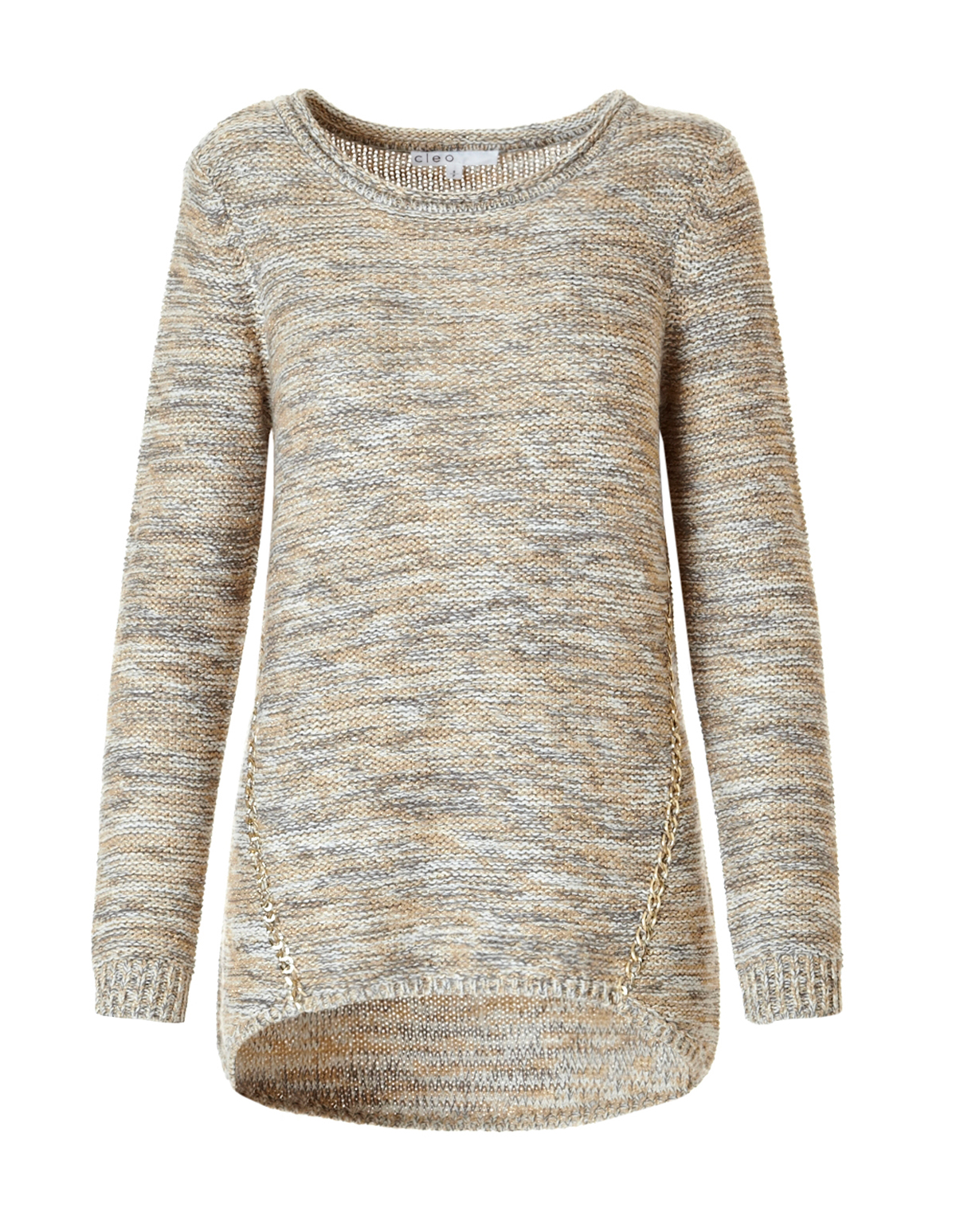 Gold Chain Knit Sweater | Cleo