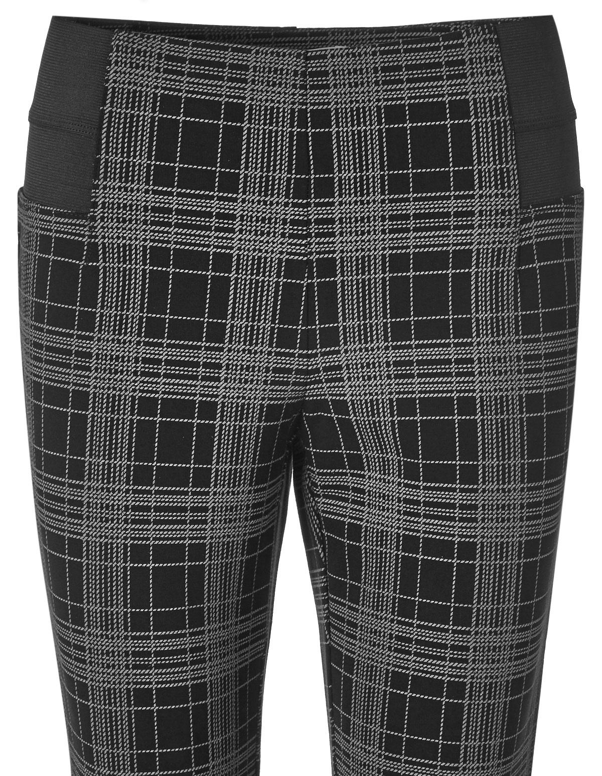98332ee1245f0c ... Black Plaid High Waisted Legging, Black/Grey, hi-res ...