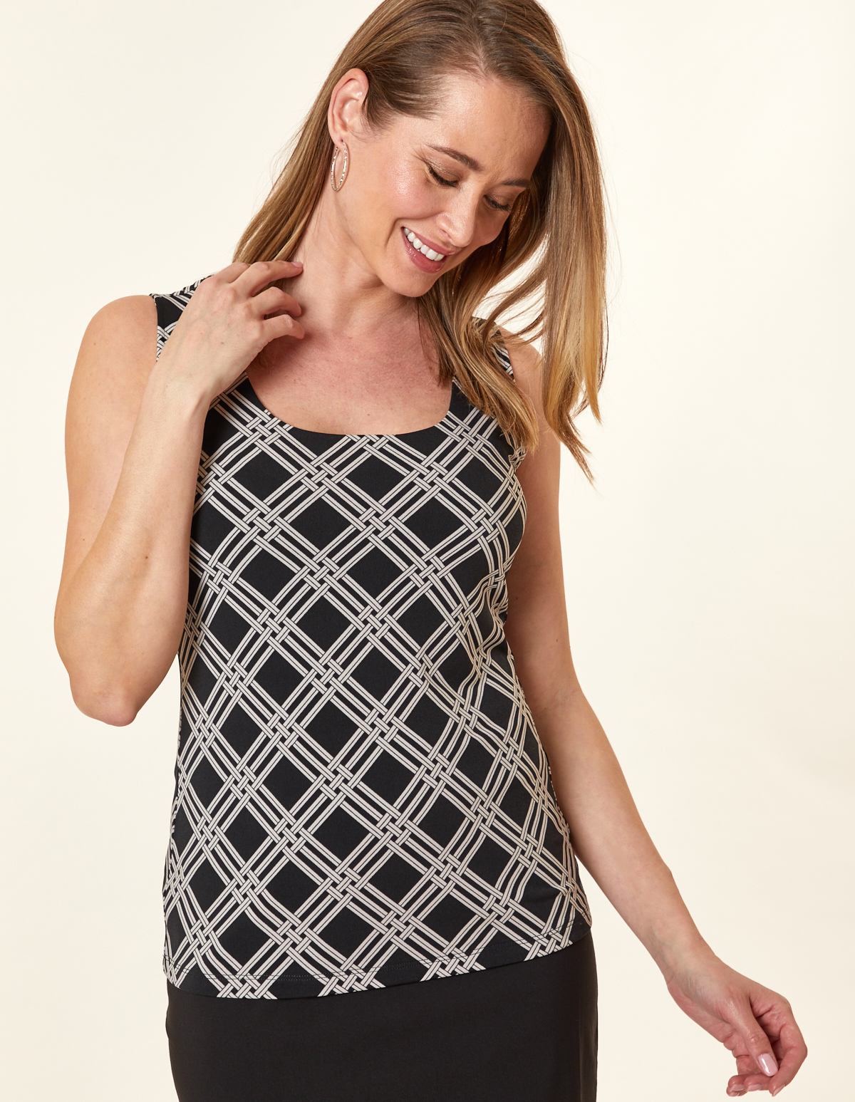 Black Diamond Essential Layering Tank, Black, hi-res