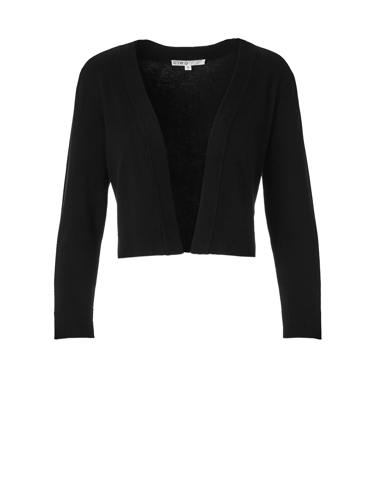 Black Open Sweater | Cleo