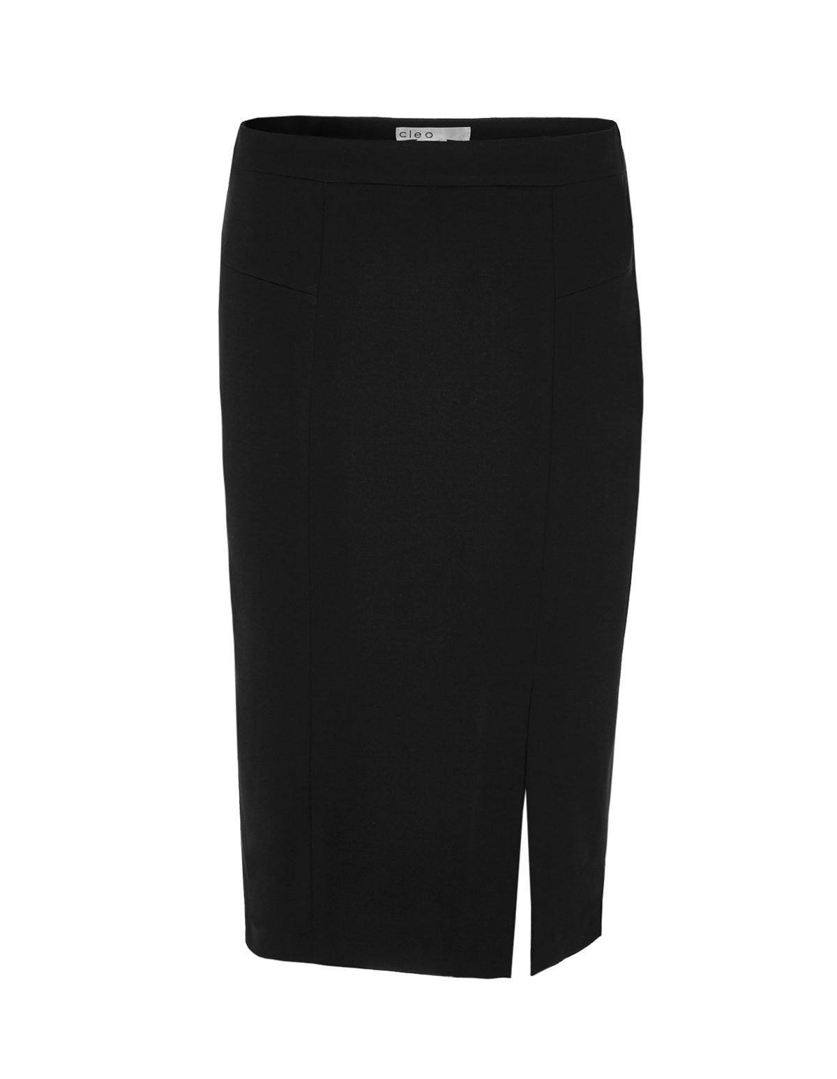 Pull-On Mid Length Pencil Skirt | Cleo