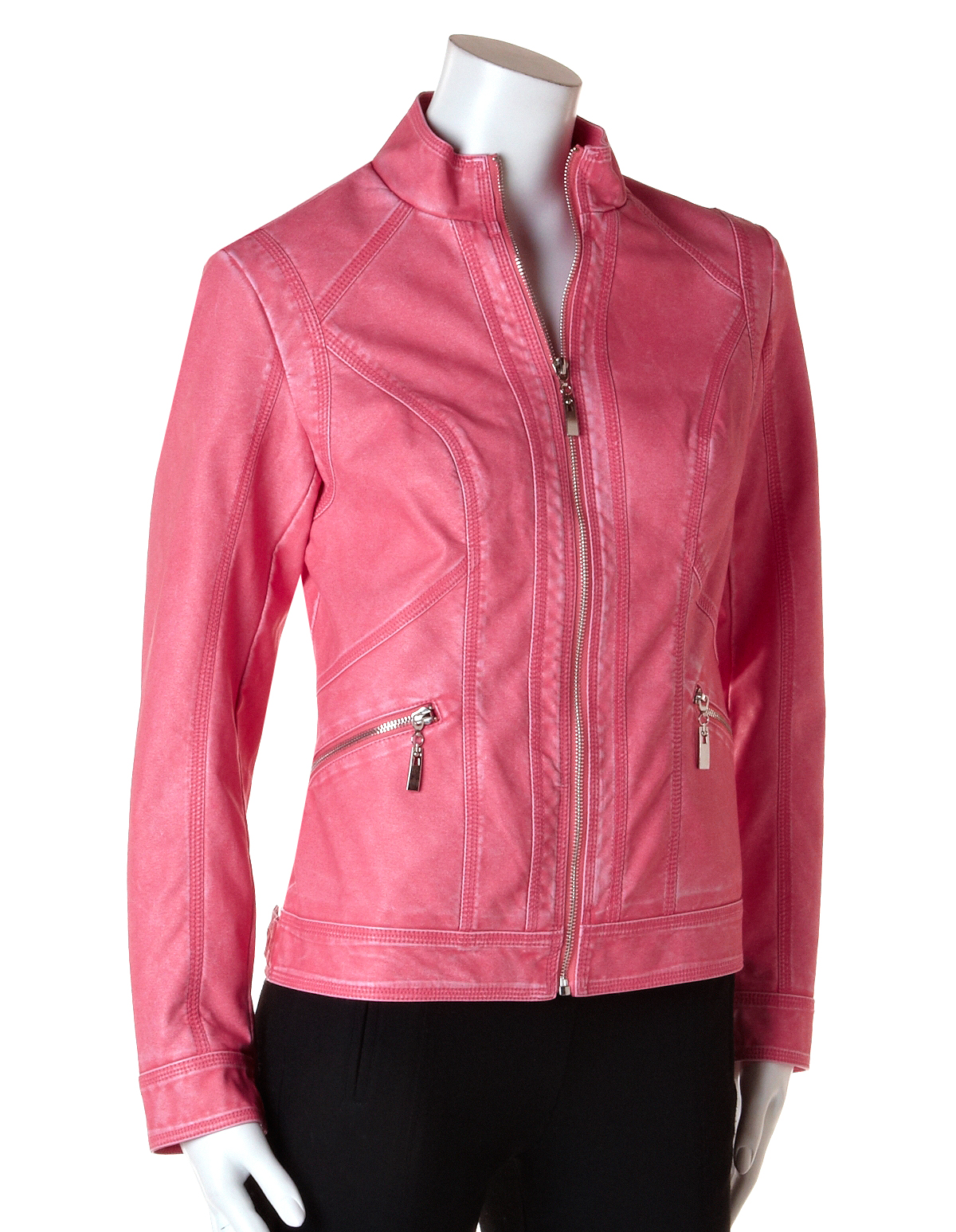 Pink Pleather Jacket | Cleo