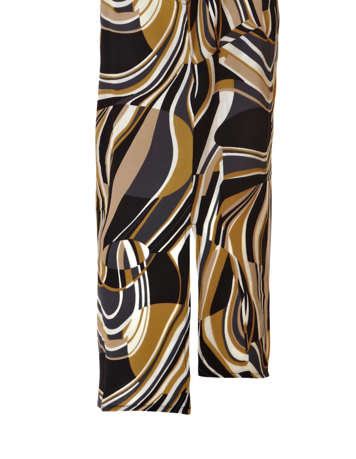 swirl print high low blouse cleo. Black Bedroom Furniture Sets. Home Design Ideas