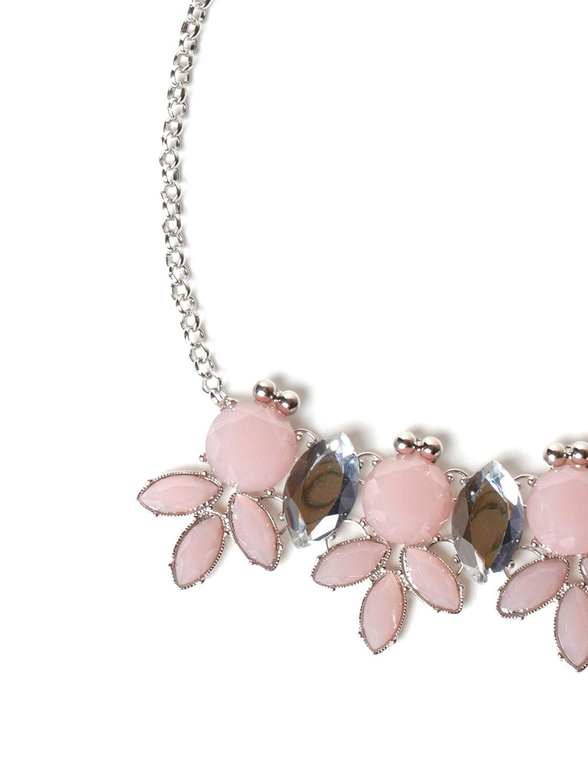 Blush Pink Statement Necklace | Cleo