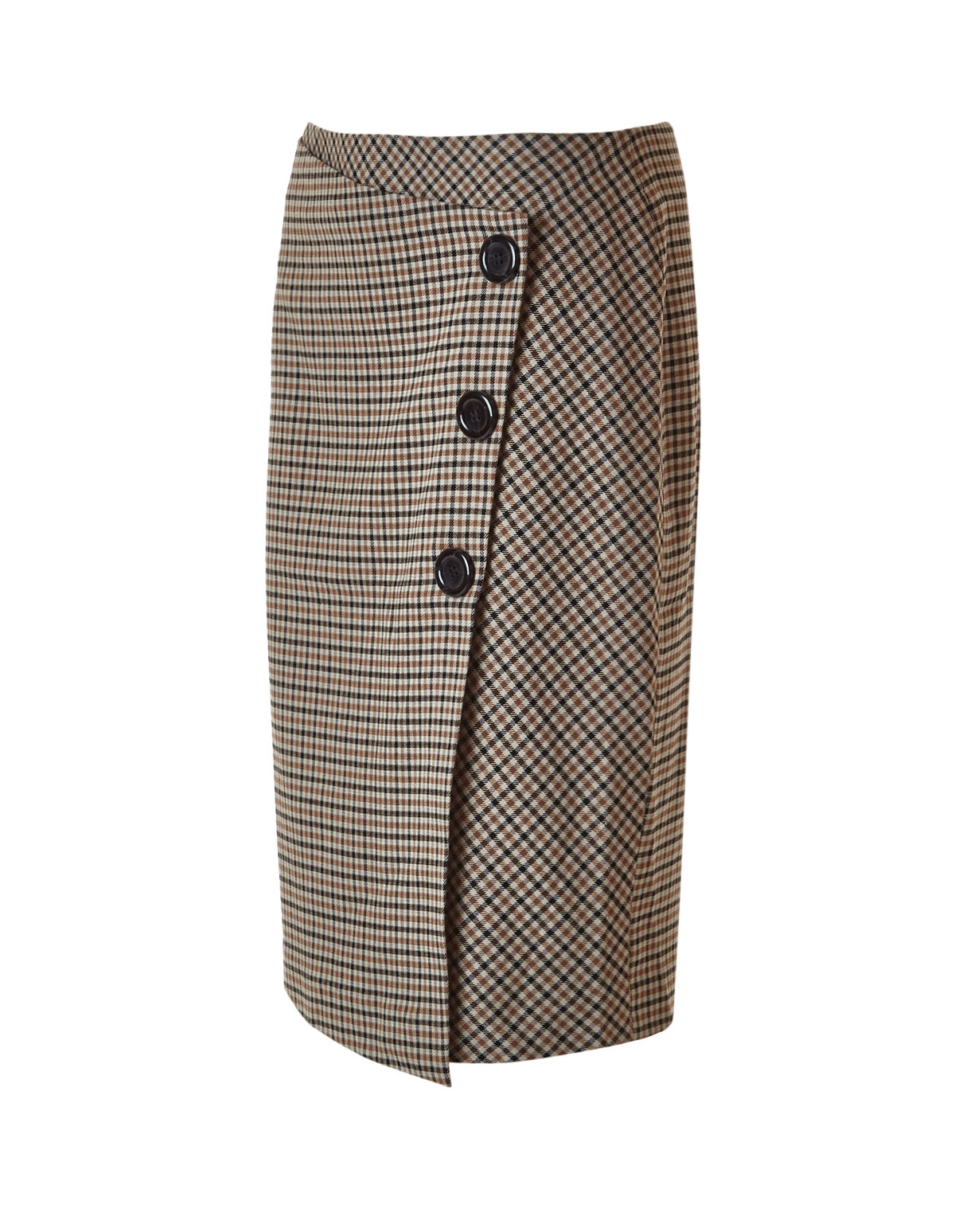 33ef3af80 ... Brown Houndstooth Skirt, Brown, hi-res ...