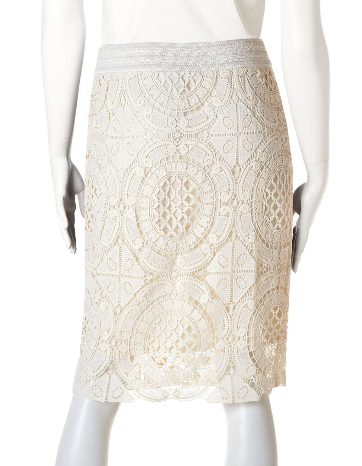 Lace Pull-On Pencil Skirt | Cleo