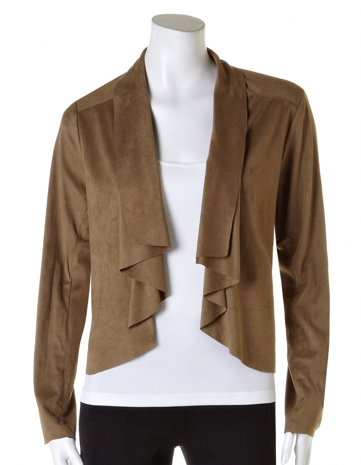 Suede Jacket Outfits For Men 20 Ways To Wear A Suede Jacket: Vicuna Drape Faux Suede Jacket