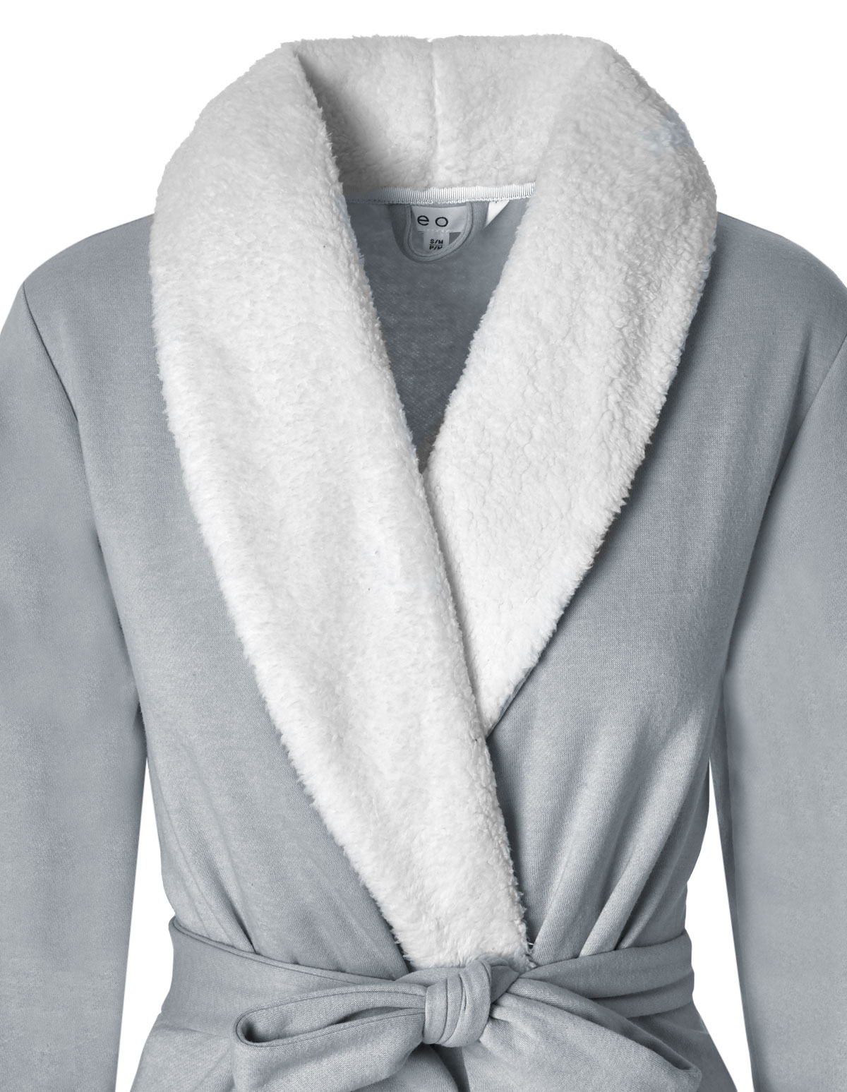 Grey French Terry Fleece Robe - Cleo 8be8a0f51