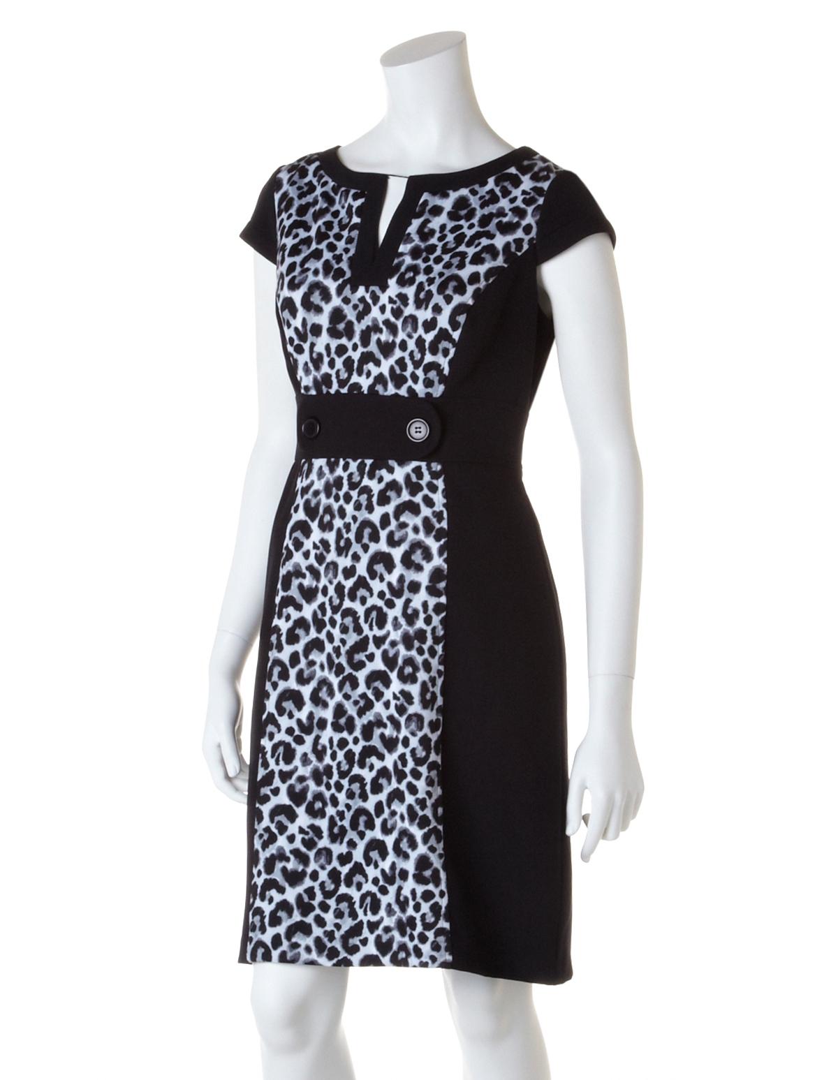 e91a83434a ... Animal Print Shift Dress