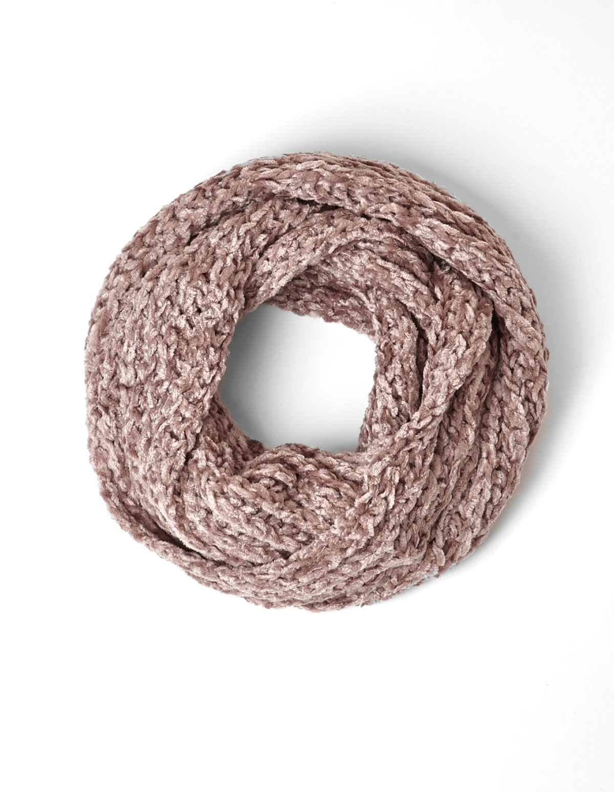 crocheted in pink infinity product a or and crochet fawn copy soft white hand mobius img cowl scarf
