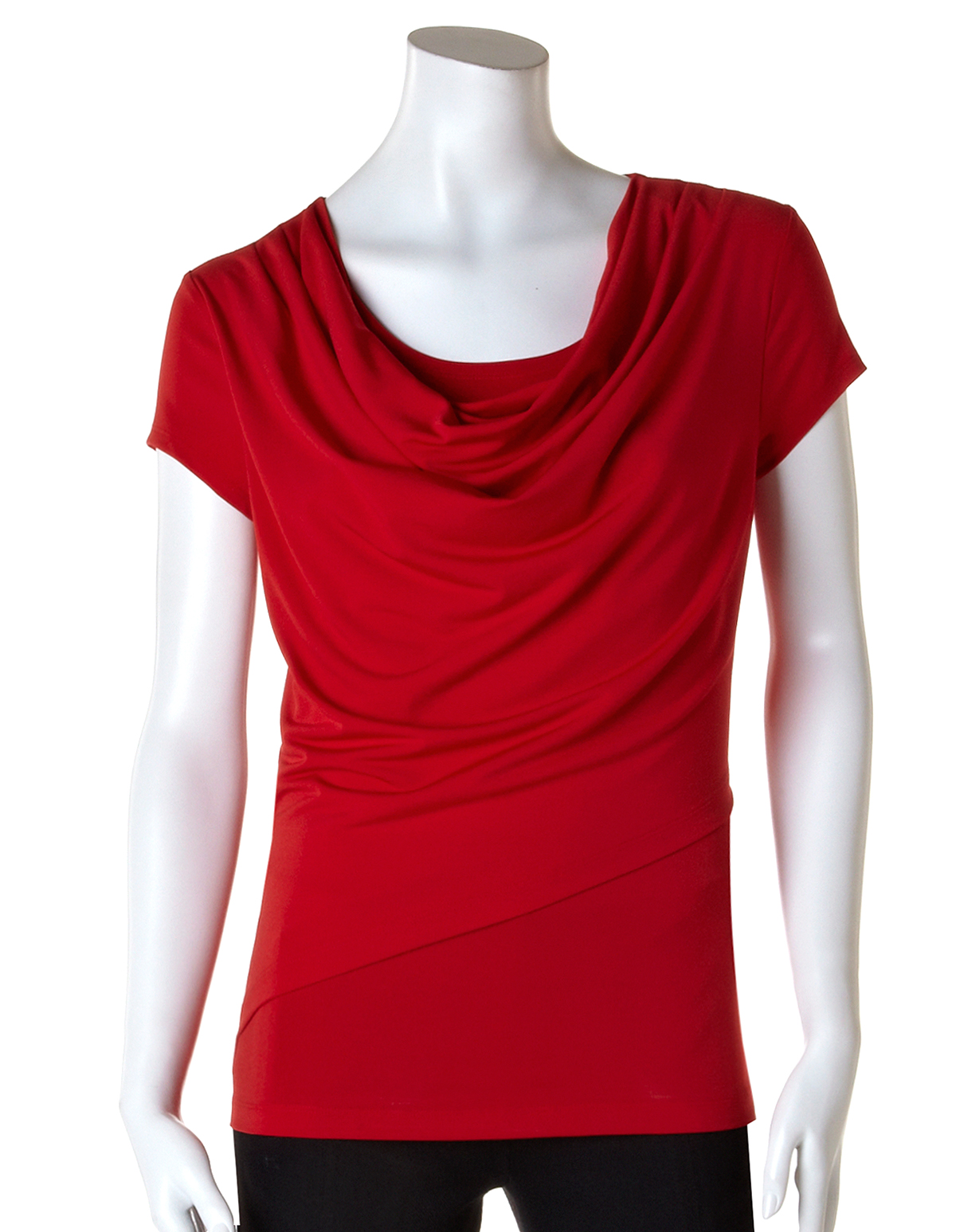 Layered cowl neck top cleo
