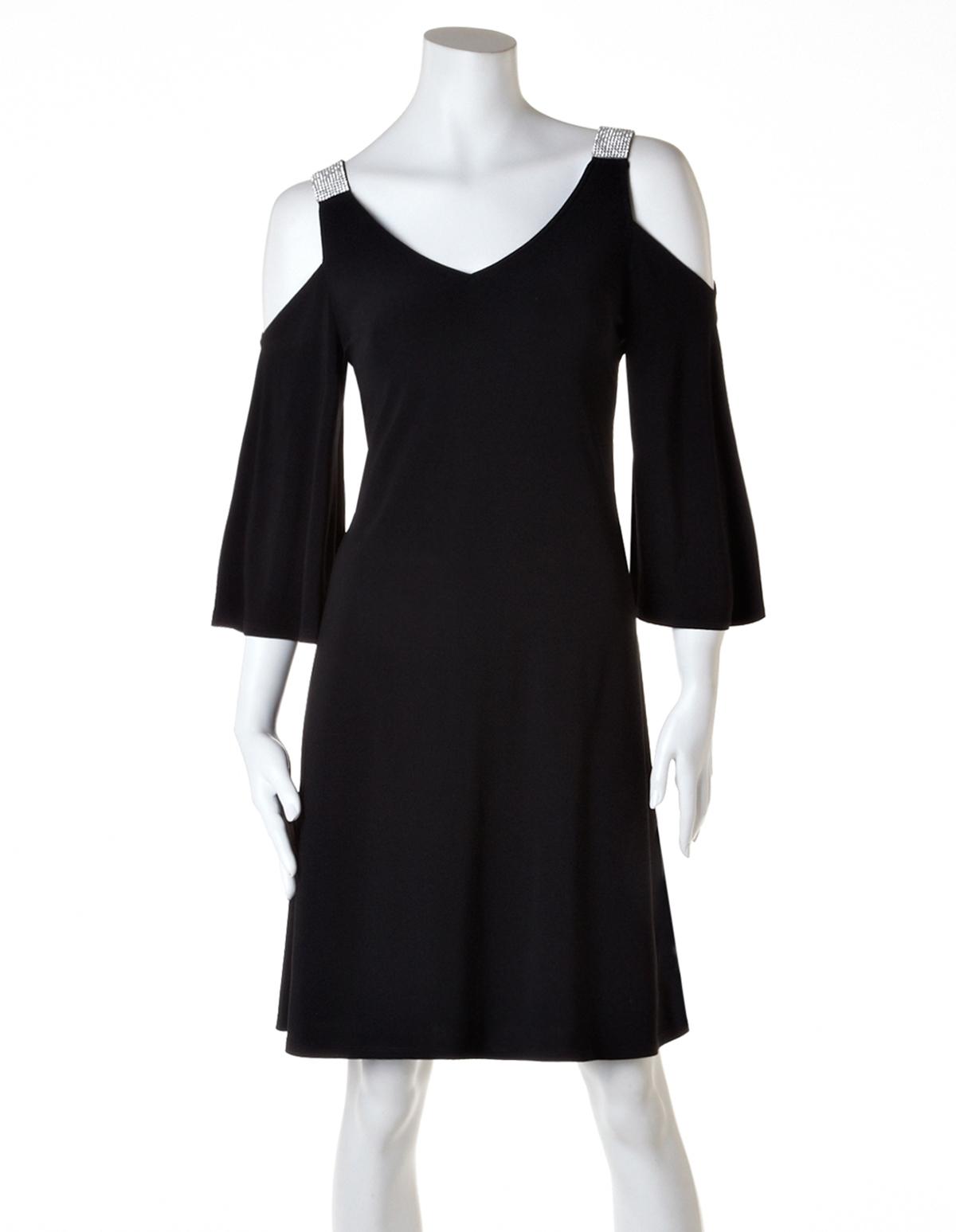 d4ef2105b135c Peak-A-Boo A-Line Dress, Black, hi-res