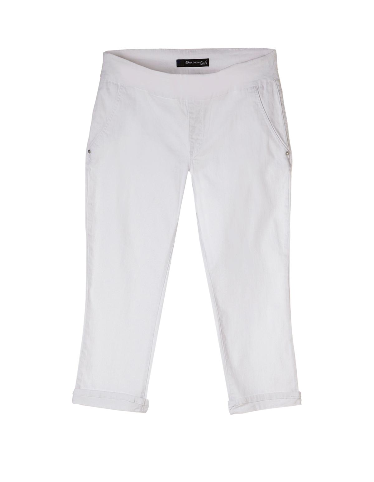 Plus Size White Capri | Cleo