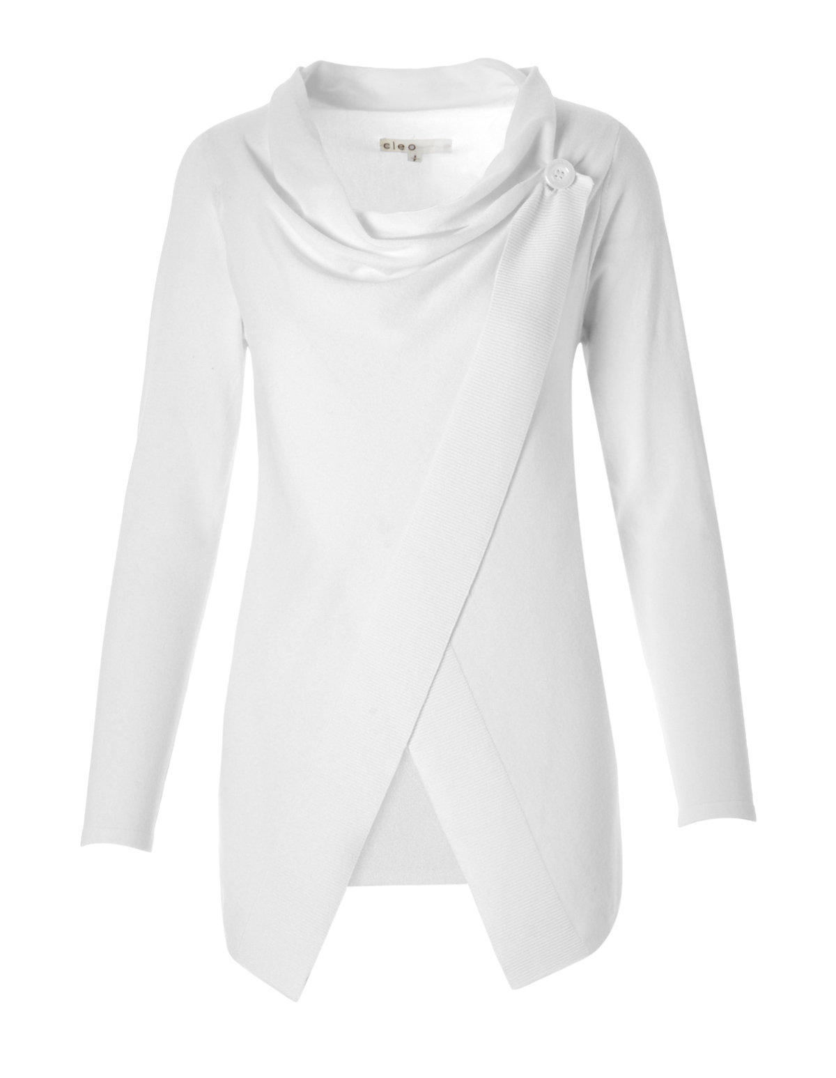 White Wrap Sweater | Cleo