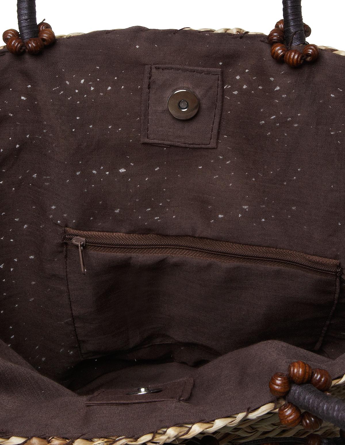 2b52e56344b7 Natural Straw Weave Tote Bag