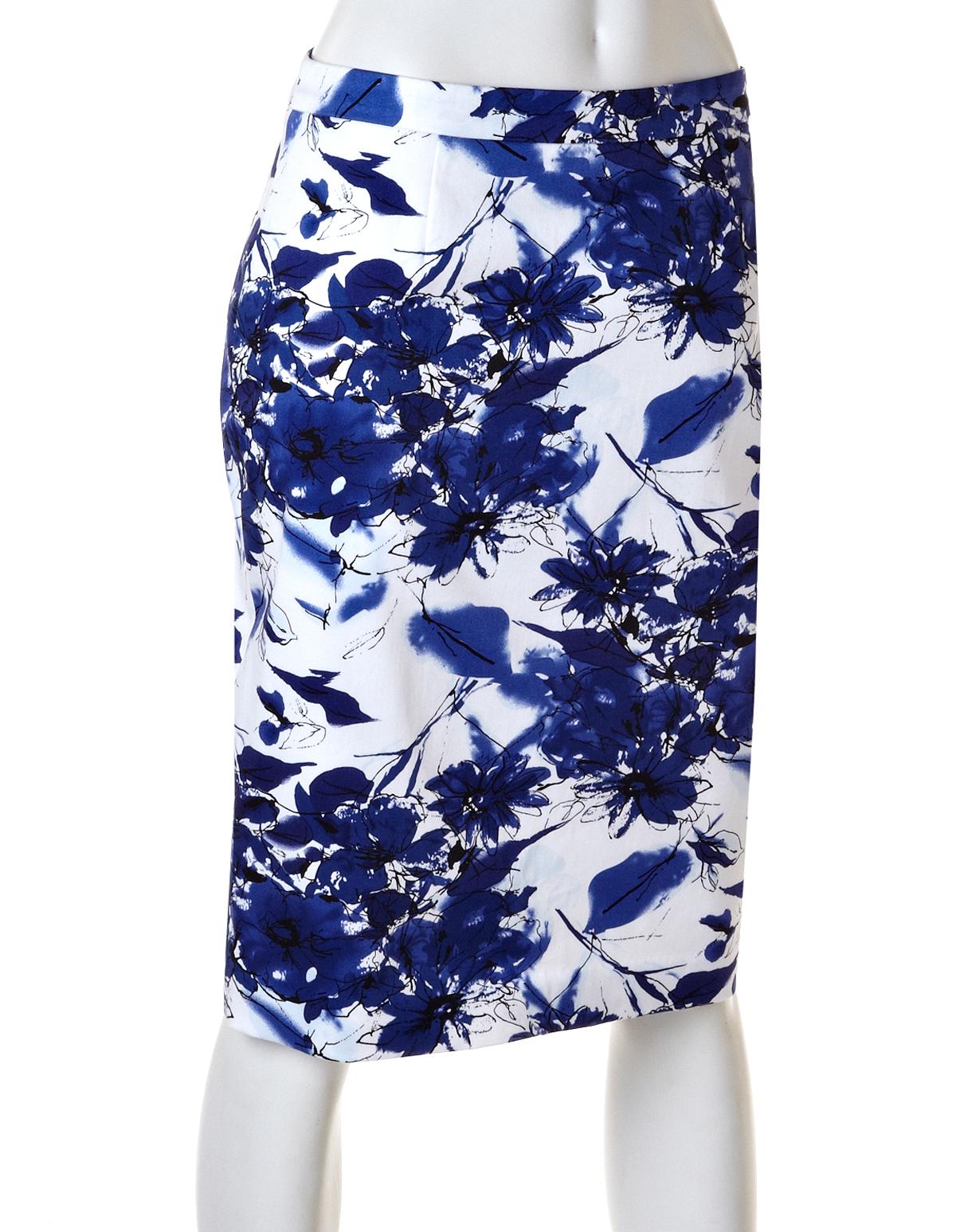 blue floral pencil skirt dress ala